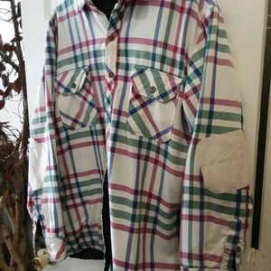 MENS BIG YANK PLAID INSULATED BUTTON UP